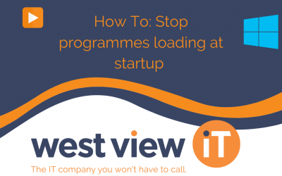 How To: Prevent programmes from loading at startup