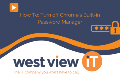 How To: Turn off Chrome's Built-in Password Manager